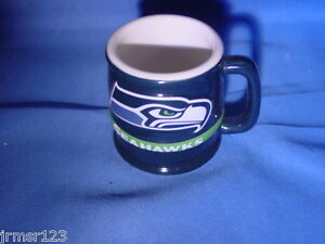 SEATTLE SEAHAWKS FOOTBALL CERAMIC BARREL MUG SHOTS, BOX OF 6 SHOTS  LIC. NFL