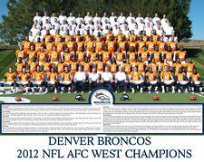 Denver Broncos - 2012 NFL AFC West Champions, 8x10 Color Team Photo
