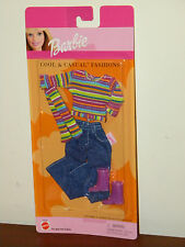 Barbie 2001 Cool & Casual Fashions MOC #47603 Blue Jeans Striped Top Scarf Boots