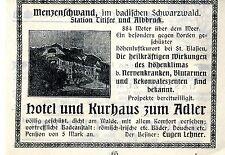 Eugen Lehner menzenschwand schw. hotel al águila publicitarias histórica de 1905