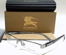 Authentic BURBERRY BE1156 1003 Gunmetal/Transparent Grey 52mm Men's Eyeglasses