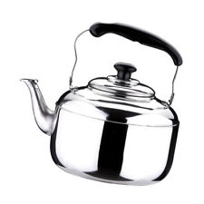 Stainless Steel Whistling Kettle Teapot Electric Gas Hobs Stove Top 6L