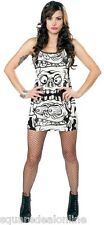 130303 Black & White Melting Monsters Tank Dress Sourpuss Punk Goth Alt Medium M
