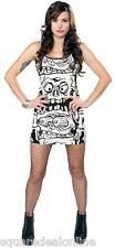 130302 Black & White Melting Monsters Tank Dress Sourpuss Punk Goth Alt Small S