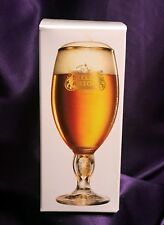 NIB – STELLA ARTOIS BELGIUM 33cl CHALICE GLASS – ALL GOLD TRIM – HOLIDAY EDITION