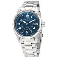 Hamilton Khaki Field Blue Dial Automatic Mens Steel Watch H70305143