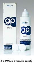 Avizor GP Multi lente a contatto la disinfezione ammollo 3x 240ml-Confezione da 3 mese Saver