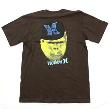Hurley Mens Gorilla Hat Tshirt Lids Brown Relaxed Tee Large Reg Fit RARE Graphic