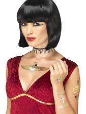 égyptien TATOUAGES TEMPORAIRES transférables Déguisement métallique Tattoos Par