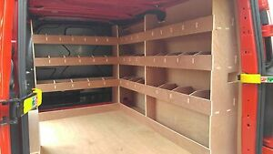 Ford Custom Van Racking SWB TRIPLE , 12mm Plywood Shelving, Storage