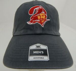 Tampa Bay Buccaneers Hat Vintage Logo Adjustable NFL OSFA Football Gray Mens