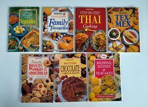 Family Circle small cookbooks, bulk lot of 7