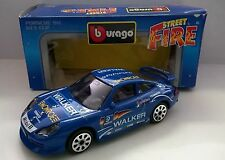 BURAGO STREET FIRE 1:43 DIE CAST PORSCHE 911 GT3 CUP BLU ART 41340 MADE IN ITALY