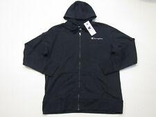 CHAMPION Navy Blue Hooded Full Zip Fleece Jacket Size XL X-Large NEW