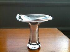 VINTAGE vicke LINDSTRAND Kosta MID SECOLO ART GLASS mushroom-shaped VASO FIRMATO