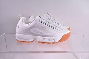 Size 10 Men's FILA Disruptor 2 No-Sew Sneakers 1FM00693-156 White/Gum