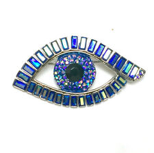 Butler and Wilson Blue Eye Baguette Stone Brooch NEW