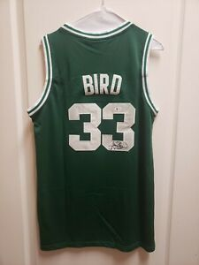 LARRY BIRD Autographed BOSTON CELTICS NBA Jersey BAS COA (from private signing)