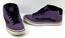 Vans No Skool Mid Leather Suede Retro Skateboard Shoe Womens Size 11 Purple