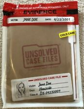 Unsolved Case Files JANE DOE Case: D03-04232001 Murder Mystery Game NEW