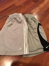 2 Pairs Men's Basketball Shorts Adidas And Nike Size M