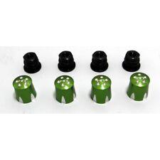 Hot Racing ACC74MA05 Aluminum Wheel Nut Caps And M4 Nuts (green)(4) - Mushroom H