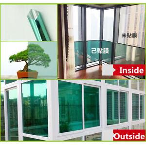 Green Silver Window Film Privacy One Way Mirror Glass Tint 60''x20''