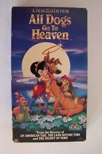 All Dogs Go to Heaven VHS Video Tape Movie