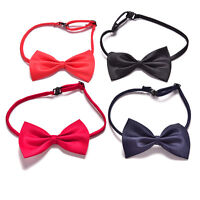 Boys Kids Children Toddler Infant Solid Bowtie Pre Tied Wedding Bow Tie BH