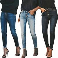 Women Stretch Denim Jeans Leggings Skinny Slim Fit Pants Jogging Trousers Casual