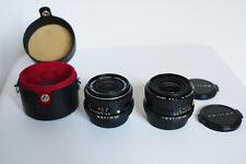 Lot of 2 SMC PENTAX K PK lenses: 35mm f2.8 & 28mm f2.8