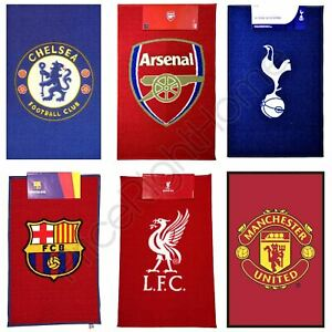 OFFICIAL FOOTBALL TEAM RUGS CHELSEA, BARCELONA, ARSENAL, MANCHESTER & MORE