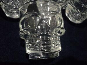 Skull Shot Glasses x 6 Glass
