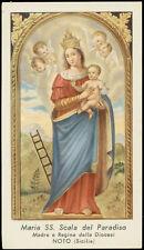"""santino-holy card""""""""ediz. GN  -MARIA SS.SCALA DEL PARADISO-NOTO"""