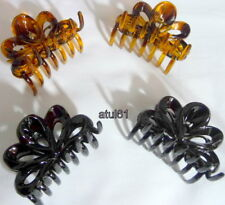 PK OF 2 BLACK,BROWN 5 CM HAIR CLAW CLAMPS HAIR CLIPS HAIR GRIPS ACCESSORIES NEW