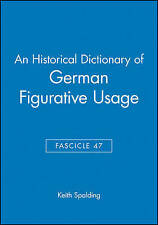 An Historical Dictionary of German Figurative Usage-ExLibrary