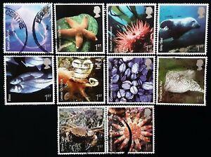 GB 2007 Sea Life Used Off Paper Set