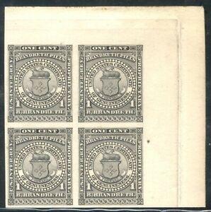 U.S. #RS33P3 BLOCK - 1c Black, Brandreth ($200)