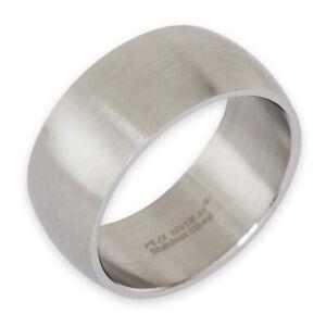Band Ring Edelstahl Damen Herren 8mm 10mm 12mm breit Daumenring Partnerringe