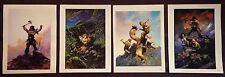 Frank Frazetta Vintage Lot of 4 JAGUAR GOD Original GGA Art Print Lithographs
