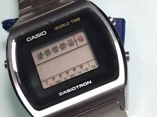 NEW OLD STOCK LCD CASIO CASIOTRON 29CS-11B-1 MEN'S WORLD TIME WRISTWATCH REPAIR