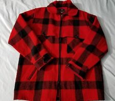 Vintage Johnson Woolen Mills Hunting Togs RED Mackinaw Men's Jacket Coat Size 44