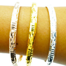 3 PC GOLD AND PINK GOLD AND SILVER PLATED BRACELET 24K 5.5 CM CENTRE GOOD EXPORT