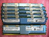 QTY 1x 8GB DDR2 PC2-5300F 4Rx4 ECC FBD Server memory Micron Crucial