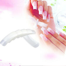 Hot 500pcs Acrylic UV Gel Natural French Acrylic Style False Nail Art Tips Tools
