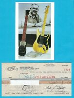 Leo Fender 1983 Autographed Signed G&L Payroll Check w/ HP Leo HP Photo
