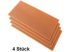 Paket Leiterplatten (4 Stück) 125 x 57 mm Lochraster Platine 2,54 mm Löten Hobby
