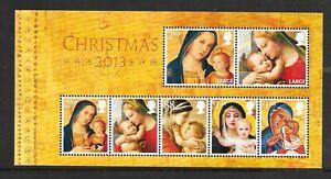 "MINIATURE SHEET MS3549 ""CHRISTMAS 2013""  MNH UM  FREE POST"