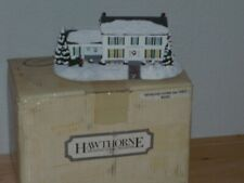 Norman Rockwell House with Bringing Home the Tree Ceramic Set Brand New Box