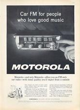 1962 Motorola PRINT AD FM Car Radio great detailed vintage ad